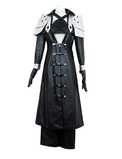 Inspirert av Final Fantasy Sephiroth video Spill Cosplay Kostumer Cosplay Suits Lapper Svart Langt ErmeJakke / Brystplate / Bukser /