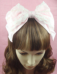 Lolita Jewelry Sweet Lolita Headwear Princess Pink Lolita Accessories Headpiece Bowknot Solid For Cotton