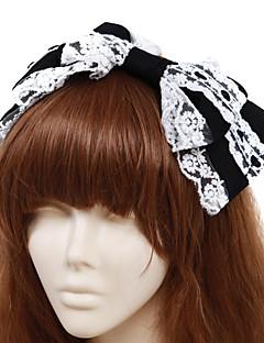 halpa -Korut Klassinen ja Perinteinen Lolita Headwear Prinsessa Miesten Naisten Lolita Tarvikkeet Yhtenäinen Rusetti Headpiece Puuvilla