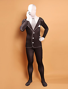 billige Zentai-Zentai Drakter Ninja Zentai Cosplay-kostymer Ensfarget Trikot / Heldraktskostymer Zentai Elastan Herre Dame Halloween