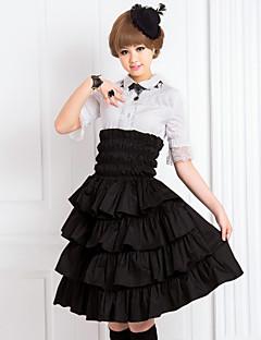 Φούστα Κλασσική/Παραδοσιακή Lolita Lolita Cosplay Φορέματα Λολίτα Μονόχρωμο Μεσαίου Μήκους Φούστα Για την Βαμβάκι