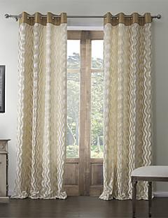 billige Gardiner-to paneler rokokko polyester bomull blanding preget corrugation rom darkening gardin