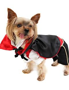 billiga Hundkläder-Hund Dräkter/Kostymer Hundkläder Vampyr Terylen Kostym För husdjur Herr Gulligt Cosplay
