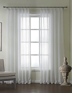 billige Gjennomsiktige gardiner-ett par moderne sengetøy jacquard solid ren gardin