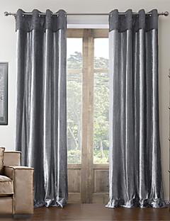 billige Gardiner-anti ™ to paneler bomull neoklassisk polyester blanding gardin