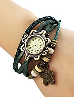 baratos -Mulheres Relógio de Moda Bracele Relógio Quartzo PU Banda Borboleta Boêmio Preta Azul Marrom Verde