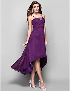 A-line Prinzessin Spaghetti Straps Tee Länge asymmetrische Chiffon Prom Kleid mit Kristall von ts Couture ®