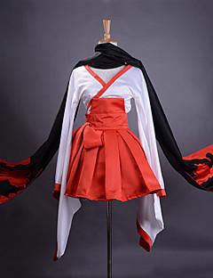 """billige Anime cosplay-Inspirert av Inu x Boku SS Ririchiyo Shirakiin Anime  """"Cosplay-kostymer"""" Cosplay Klær / Japansk Kimono Lapper Langermet Skjørte / Belte / Halstørklæ Til Dame Halloween-kostymer"""