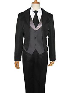 """billige Anime Kostymer-Inspirert av Svart Tjener Sebastian Michaelis Anime  """"Cosplay-kostymer"""" Cosplay Klær Ensfarget Langermet Vest / Trøye / Bukser Til Herre / Dame"""