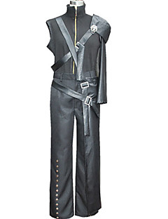 Inspirert av Final Fantasy Cloud Strife video Spill Cosplay Kostumer Cosplay Suits Lapper SvartJakke / Bukser / Skulder Beskytter / Midje
