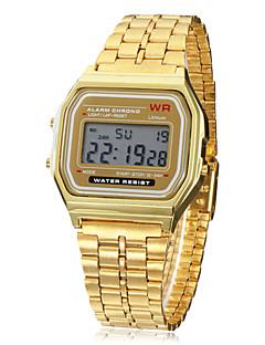 Pánské Digitální hodinky Náramkové hodinky Digitální Alarm Kalendář Chronograf LCD Slitina Kapela Zlatá