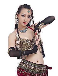 ダンスウェアアクセサリーダンスウェアグローブ女性のスパンデックスエレガントなクラシックドレス