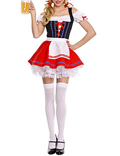 Oktoberfest Servitør/servitrise karriere Kostymer Cosplay Kostumer Party-kostyme Kvinnelig Festival/høytid Halloween-kostymer Rød