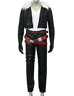 """billige Videospill Kostymer-Inspirert av Final Fantasy Squall Leonhart video Spill  """"Cosplay-kostymer"""" Cosplay Klær Ensfarget Langermet Frakk / Bukser / Belte Halloween-kostymer"""