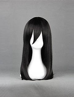 cheap Anime Cosplay Wigs-Cosplay Wigs Attack on Titan Mikasa Ackermann Anime Cosplay Wigs 50 CM Heat Resistant Fiber Women's