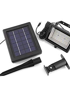 billige Solcelle & LED-Belysning-30-ledede solenergi ultra lyse hage flom spot lys plen kald hvit lampe