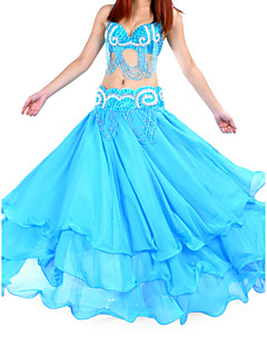 Danse du ventre Jupes Femme Entraînement Mousseline Taille moyenne