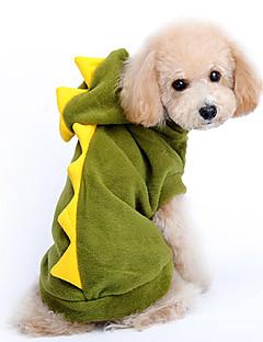 billiga Hundkläder-Hund Dräkter/Kostymer Huvtröjor Hundkläder Tecknat Röd Grön Cotton Kostym För husdjur Herr Dam Gulligt Cosplay