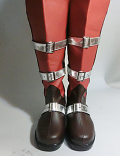 baratos Sapatos de Cosplay de Vídeo Game-Botas de Fantasia Final Fantasy Lightning Anime Sapatos de Cosplay PU Leather Mulheres Trajes da Noite das Bruxas