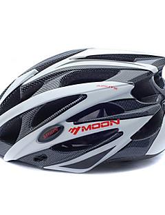billiga Cykling-MOON Vuxen cykelhjälm 25 Ventiler CE Certifiering Stöttålig EPS, PC Vägcykling / Cykling / Cykel / Mountainbike - Svartvit Herr / Dam