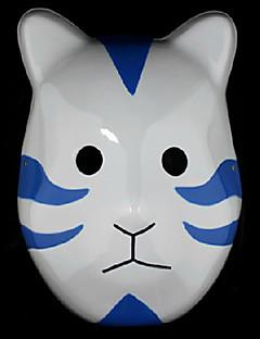 billige Anime Cosplay Tilbehør-Maske Inspirert av Naruto Madara Uchiha Anime Cosplay Tilbehør Maske Hvit / Blå PVC Mann