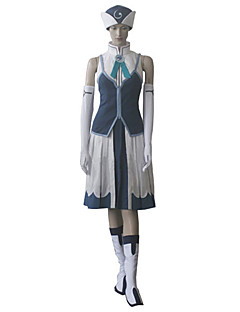 """Inspirert av Eventyr Juvia Anime  """"Cosplay-kostymer"""" Cosplay Klær Lapper Kjole Hansker Hatt Til Kvinnelig"""