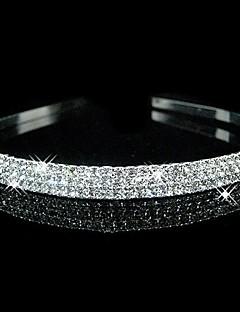 baratos Bandanas-Cristal Strass Tecido Tiaras Headbands 1 Casamento Festa / Noite Capacete