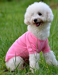 abordables -Chien Tee-shirt Vêtements pour Chien Solide Jaune Rouge Vert Bleu Rose Costume Pour les animaux domestiques