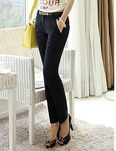 baratos Calças Femininas-Mulheres Tamanhos Grandes Casual Cintura Baixa Sem Elasticidade Reto Solto Jeans Calças Verão Outono Sólido