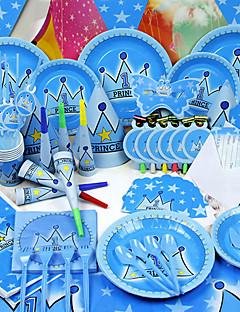 olcso Babaváró buli köszönetajándékok-Születésnap Újszülöttköszöntő Fél Asztali - Kürtök Kalap Edény készletek Kiváló minőségű papír Tündérmese téma