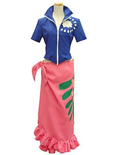 """billige Anime cosplay-Inspirert av One Piece Nico Robin Anime  """"Cosplay-kostymer"""" Cosplay Klær Trykt mønster Kortermet Topp Skjørte Til Kvinnelig"""