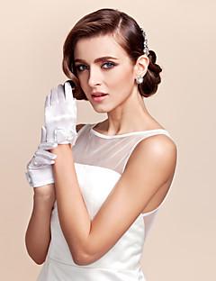 お買い得  サテン-サテンの手首の長さ手袋花の女の子の手袋弓のエレガントなスタイル