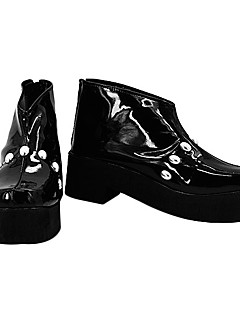Botas de Fantasia One Piece Brook Anime Sapatos de Cosplay Branco / Preto Pele PU Masculino