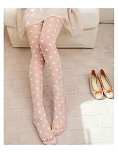 kvinners tynne store polka dot jacquard silke tynne strømpebukser, fløyel