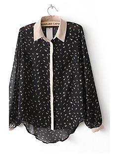 Vivi Roger Femeile lui Mini Flyer maneca lunga șifon Shirt (ecran color)