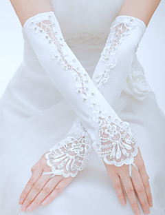 cheap Weekly Special-Tulle Polyester Elbow Length Glove Classical Bridal Gloves Party/ Evening Gloves With Solid