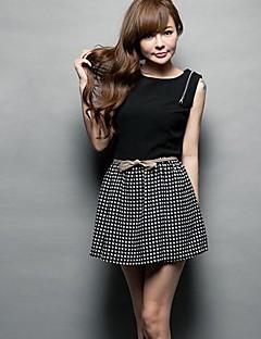 Damska koreański styl Moda Plecak Zipper Stripes Szczupła suknia bez rękawów