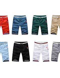 Debe bărbați Casual solid Culoare mijlocul Lungime Pantaloni # 1