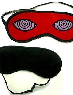 billige Anime cosplay-Maske Inspirert av Naruto Hatake Kakashi Anime Cosplay Tilbehør Maske Rød Polar Fleece Mann