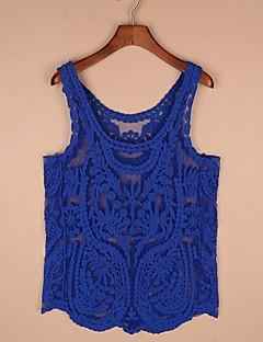 yilange女性の刺繍のチョッキ(青色)