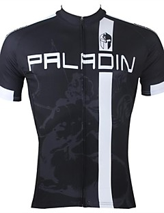 ILPALADINO Cycling Jersey Men's Short Sleeves Bike Jersey Top Quick Dry Ultraviolet Resistant Breathable 100% Polyester Stripe Patchwork