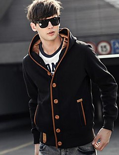 Casual Jacket Coat,Solid Long Sleeve Regular Cotton Polyester