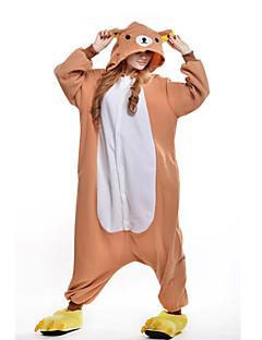 billige julen Kostymer-Kigurumi-pysjamas Bjørn Onesie-pysjamas Kostume Polar Fleece Oransje Cosplay Til Voksne Pysjamas med dyremotiv Tegnefilm Halloween