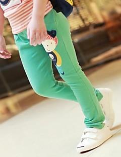 billige Bukser og leggings til piger-Leggings Bomuld Alle årstider Gul Grøn Fuchsia