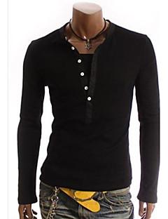 tizeland bărbați guler de stand-două piese ca maneca lunga t-shirt