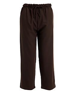 מכנסיים השרוך החומים של הנשים