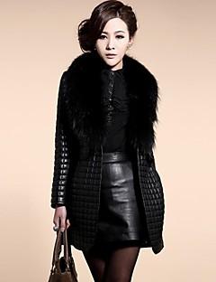 Women's Fashion Long Sleeves Faux Fur Outerwear , Fleece Lining