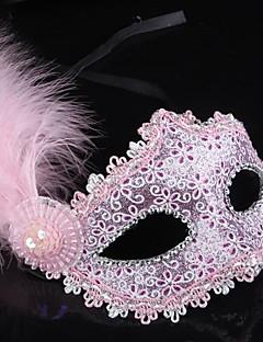 billige Masker-Karneval Maske Dame Halloween / Karneval Festival / høytid Halloween-kostymer Blå / Rosa / Gylden Ensfarget