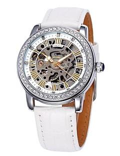 SHENHUA Dámské Módní hodinky Automatické natahování S dutým gravírováním Kůže Kapela Třpyt Luxusní Černá Bílá Červená Hnědá Růžová Fialová