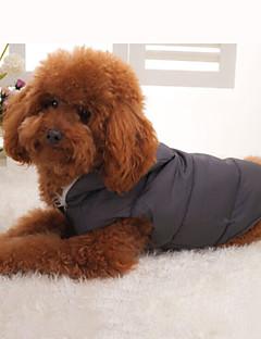 billiga Hundkläder-Hund Kappor / Huvtröjor / Väst Hundkläder Enfärgad Svart Päls / Ner / Cotton Kostym För husdjur Vinter Herr / Dam Håller värmen / Sport / Dunjackor / Varm